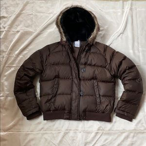 🐻BROWN Vintage POLO Jeans Co Women's Puffer